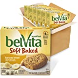 belVita Soft Baked Breakfast Biscuits, Banana Bread Flavor, 6 Boxes of 5 Packs (1 Biscuit Per Pack)