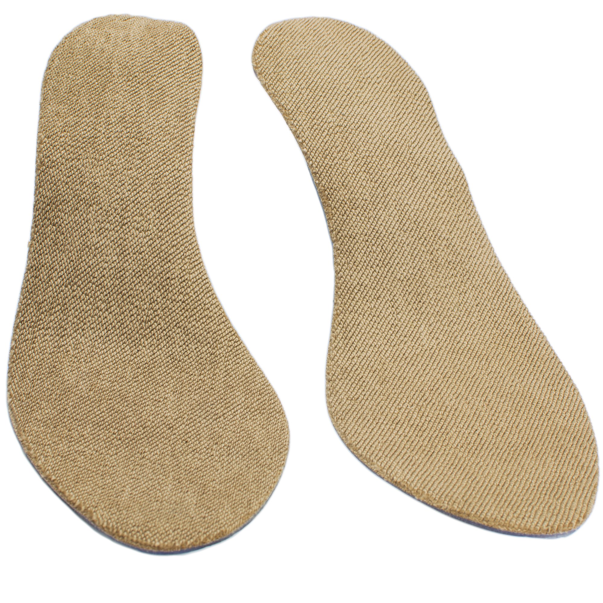 SoxsolS Antislip Cotton Flat Insert For Sockless Shoes Machine Washable Dryer Safe For Women Brown Size US 8 Euro 39