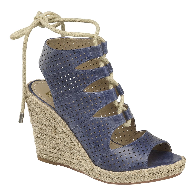 Johnston & Murphy Women's Mandy Espadrille Wedge Sandal B01HQXLF84 9 M US|Blue
