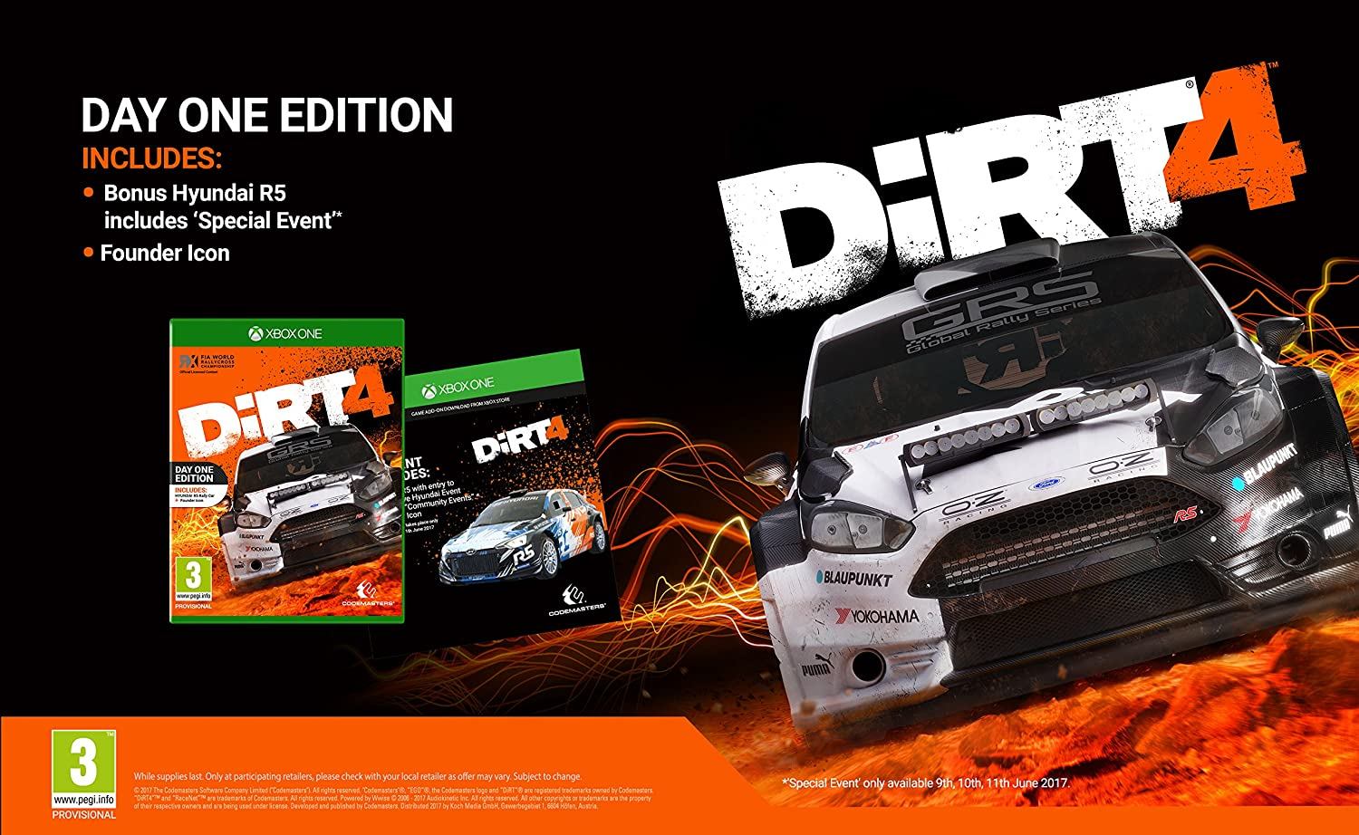 Dirt 4 Day One Edition - Xbox One [Importación inglesa]: Amazon.es: Videojuegos