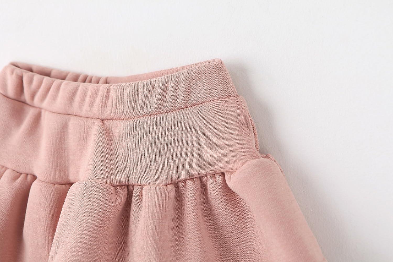 Ozkiz Little Girls Cotton Leggings Pants Culottes Skirt Winter Warm Thermal Bottom
