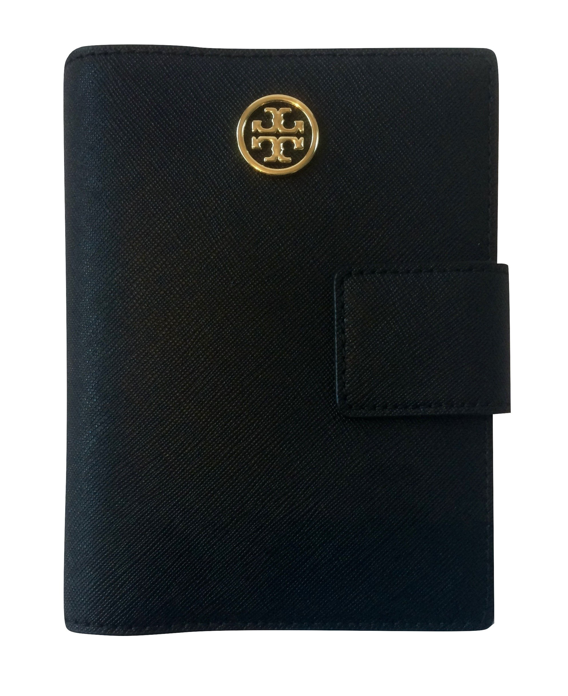 Tory Burch Robinson Snap Passport Holder in Saffiano Leather (Black) by Tory Burch