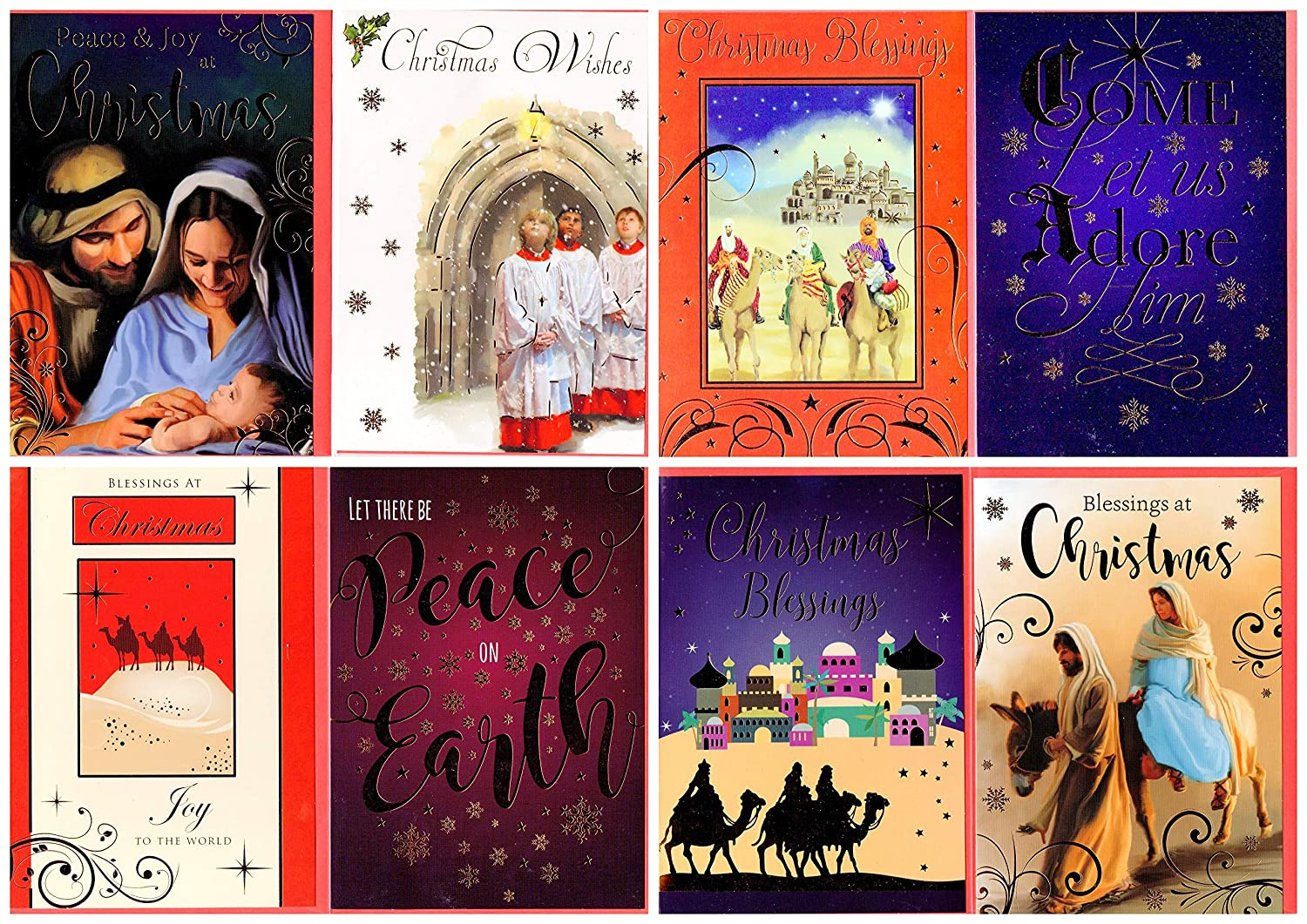 Beautiful Religious Christmas Cards.Pack Of 12 Orthodox Religious Design Christmas Cards Envelopes