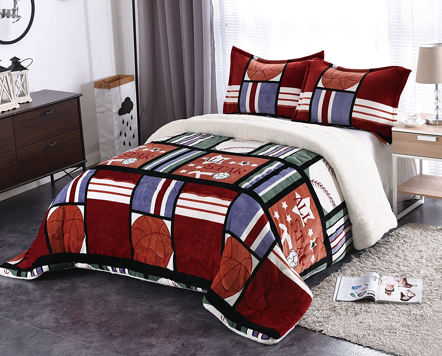 Fancy Collection 3pc King Size Blanket Sumptuously Soft Plush ...