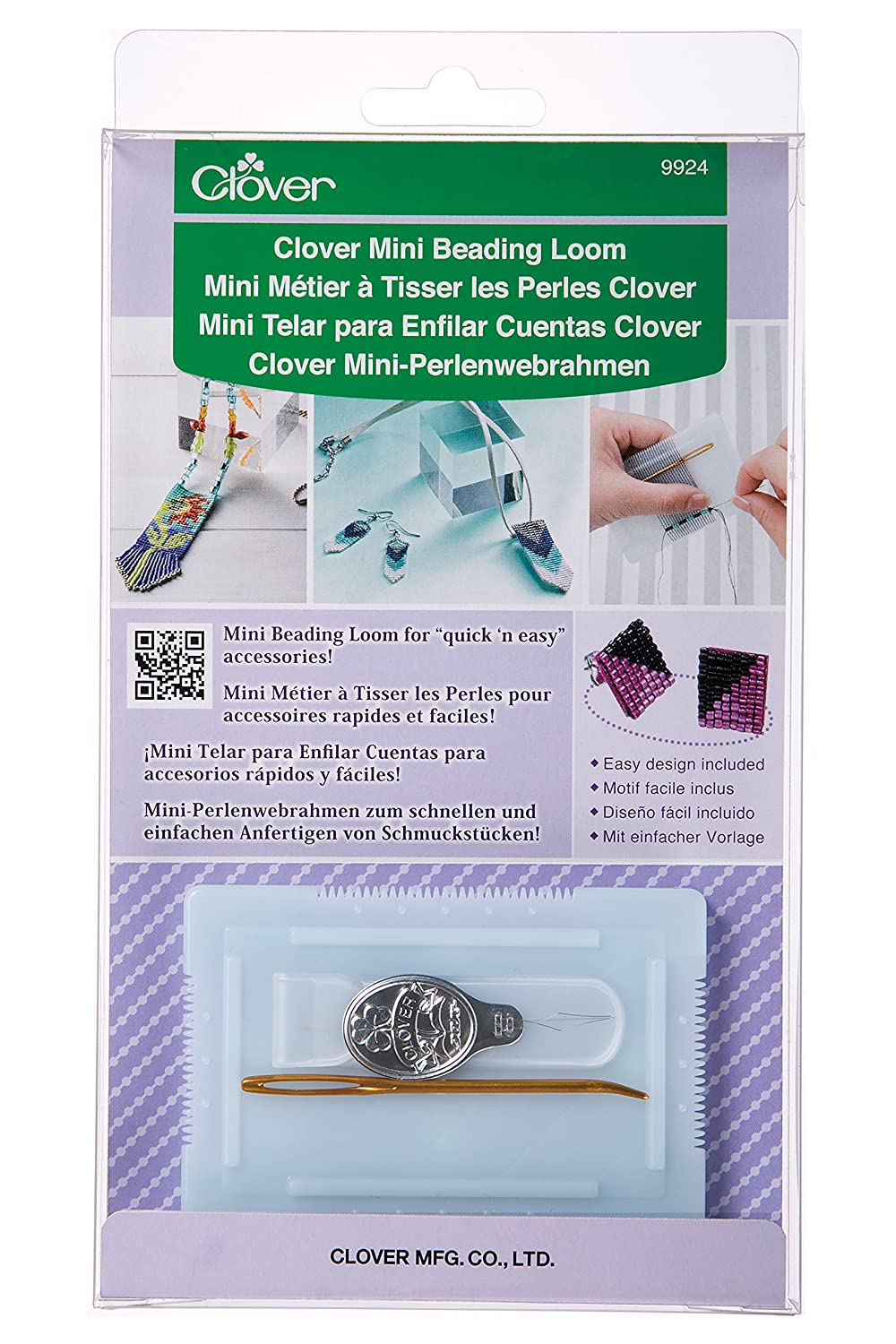 Clover 9924 Beading Loom, Mini Clover Needlecraft Inc.
