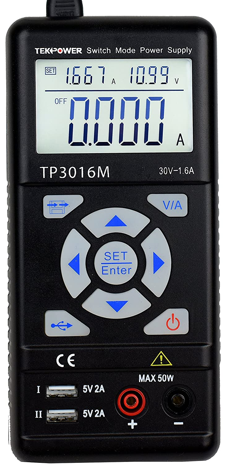 Tekpower TP3016M Portable Handheld Variable DC Power Supply