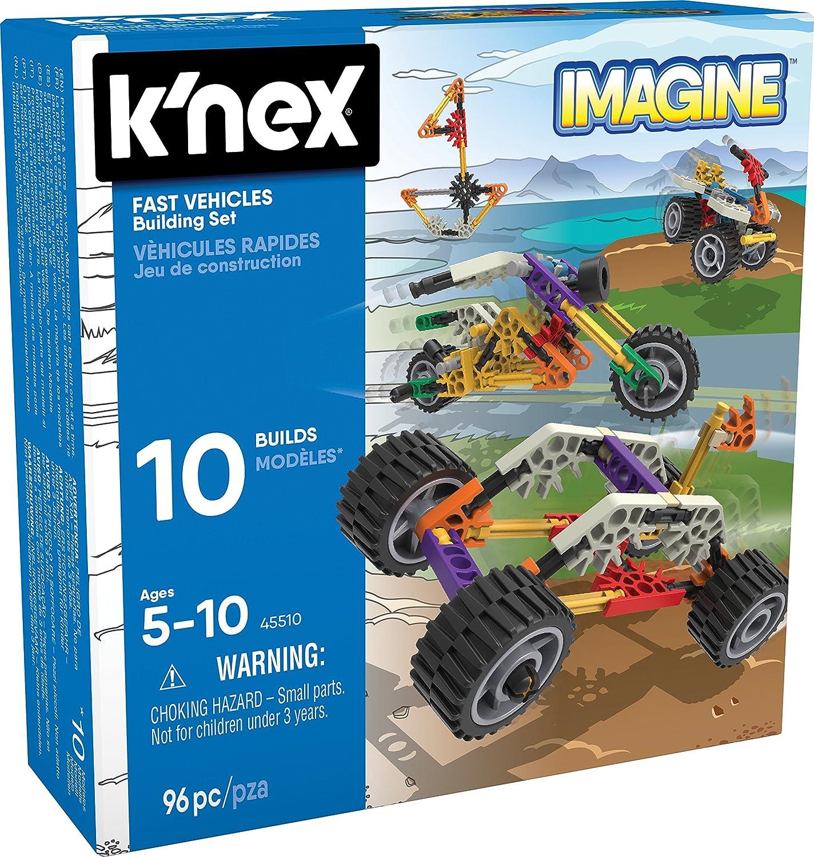 K/'Nex Starter Vehicle Building Set 61 Pcs Construction Toy for Kids Motorcycle
