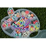 Pindia Multicolor Jewelry Bead DIY Toy For Girls Handmade Jewellery Making Kit Necklace Bracelet Children Fashion Accessories