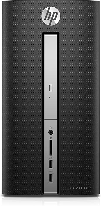 HP Pavilion 570-033w Desktop PC – Intel Core i7-7700, 3.6GHz, 16GB Ram, 2TB Hard Drive, Windows 10 with Keyboard and Mouse included (Black/Silver)