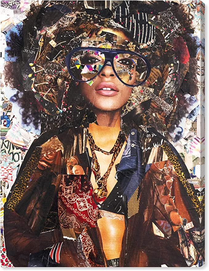 The Oliver Gal Artist Co Fashion Wall Art Canvas Prints Katy Hirschfeld Urban Glam Fro Portraits Home Décor 18 X 24 Brown White Posters Prints Amazon Com