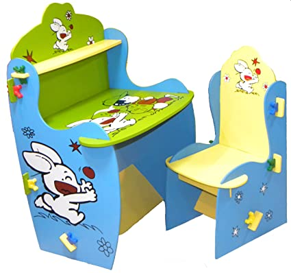Wood-O-Plast Knock Down Kids Study Table Chair Set: Amazon.in: Baby