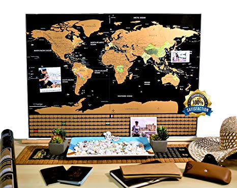 Amazon deluxe scratch off world map poster free scratcher deluxe scratch off world map poster free scratcher tool ocean us states country flags gumiabroncs