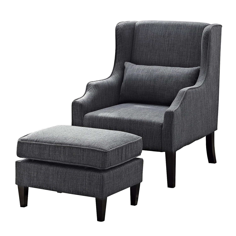 Amazon Simpli Home Ashbury Wingback Club Chair and Ottoman