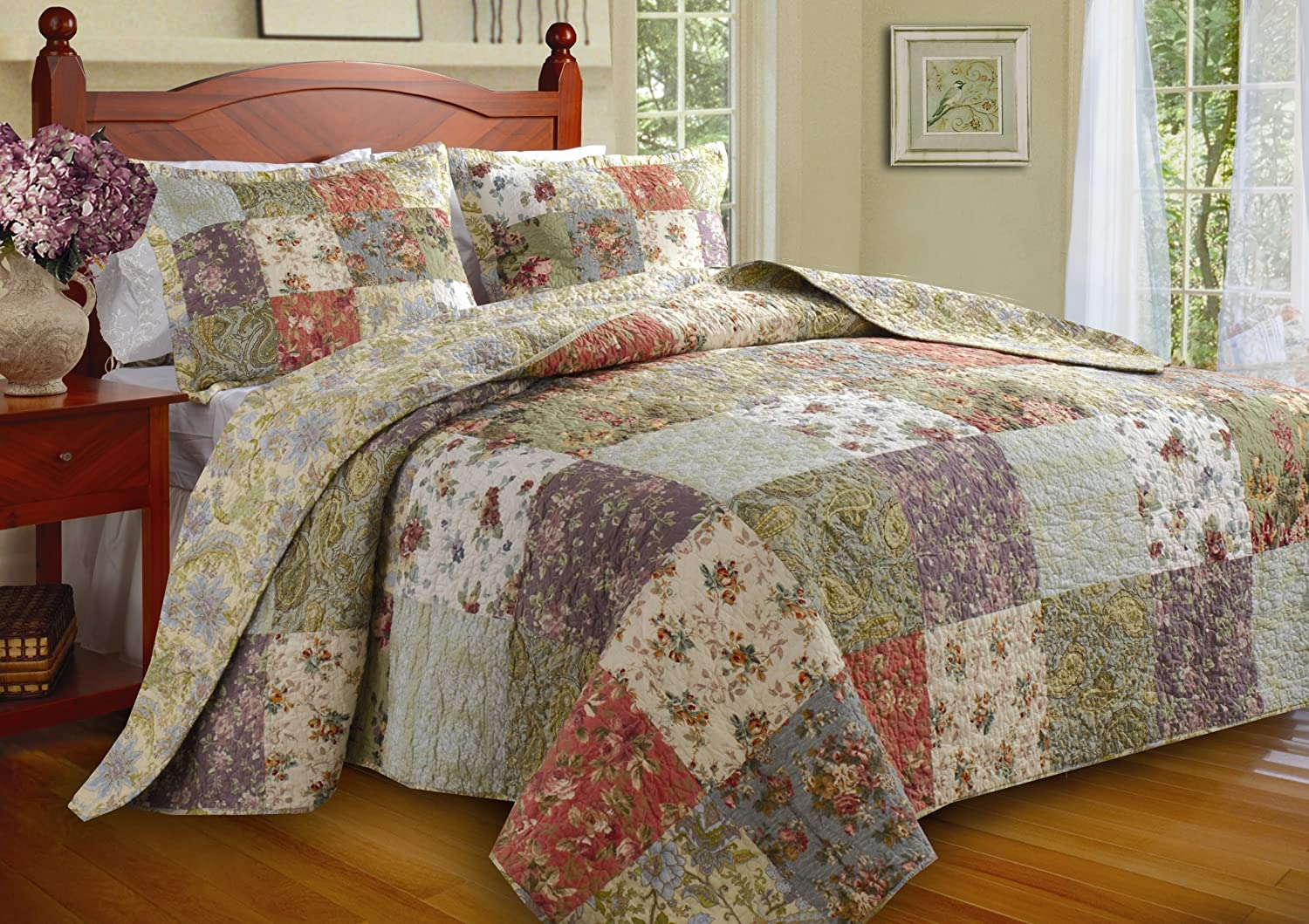 Awesome Amazon.com: Greenland Home Blooming Prairie Twin 2 Piece Bedspread Set:  Home U0026 Kitchen