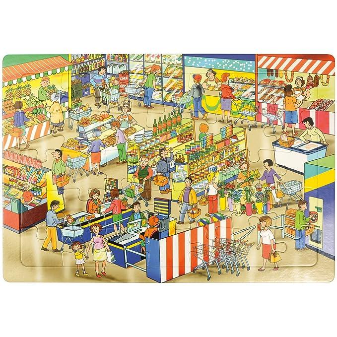 EDUPLAY 12040545x 30x 0,5cm marché Puzzle