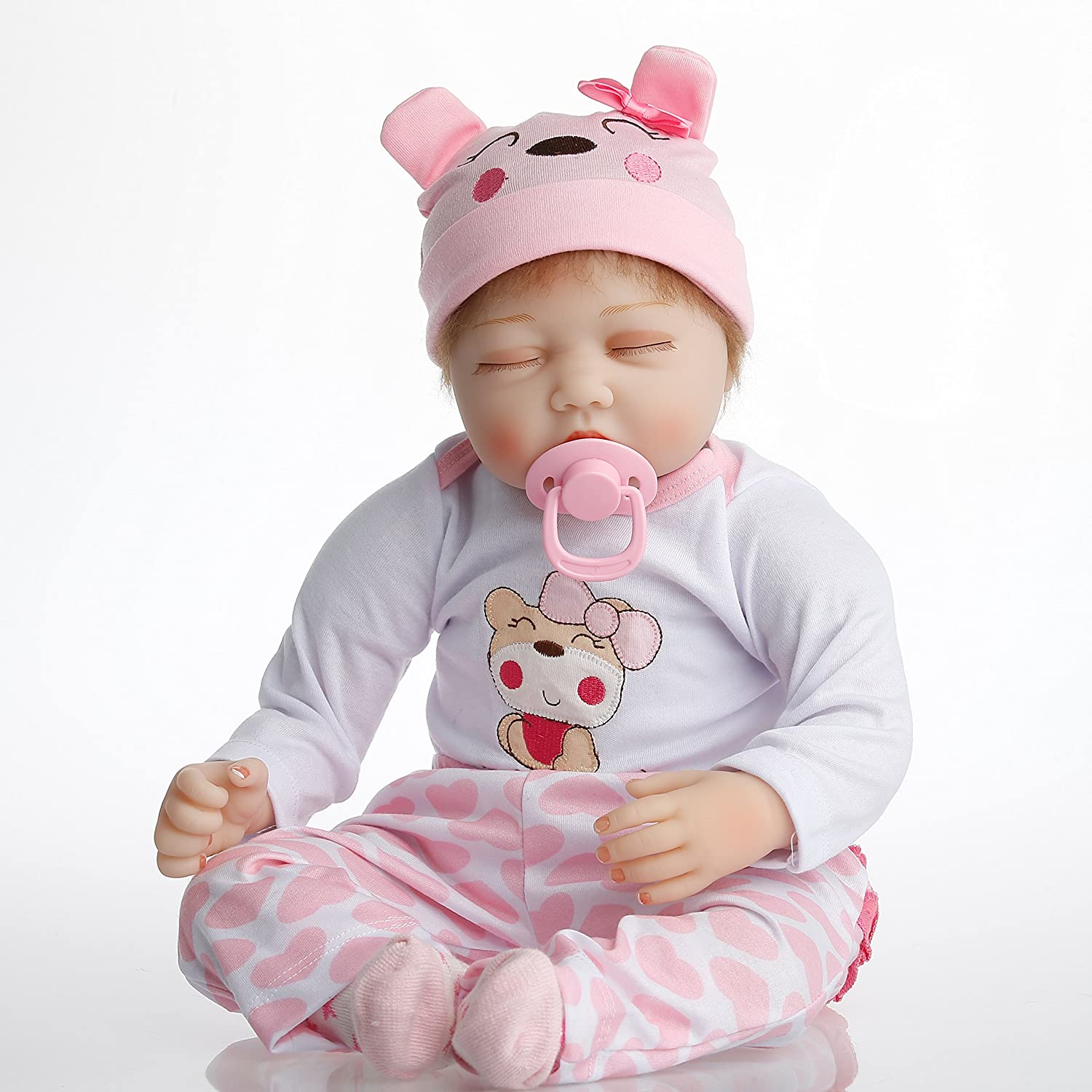 ef3daa14a Amazon.com  NPK Collection Reborn Baby Doll realistic baby dolls 22 inch  Vinyl Silicone Babies Doll Newborn real baby doll Sleep doll  Beauty