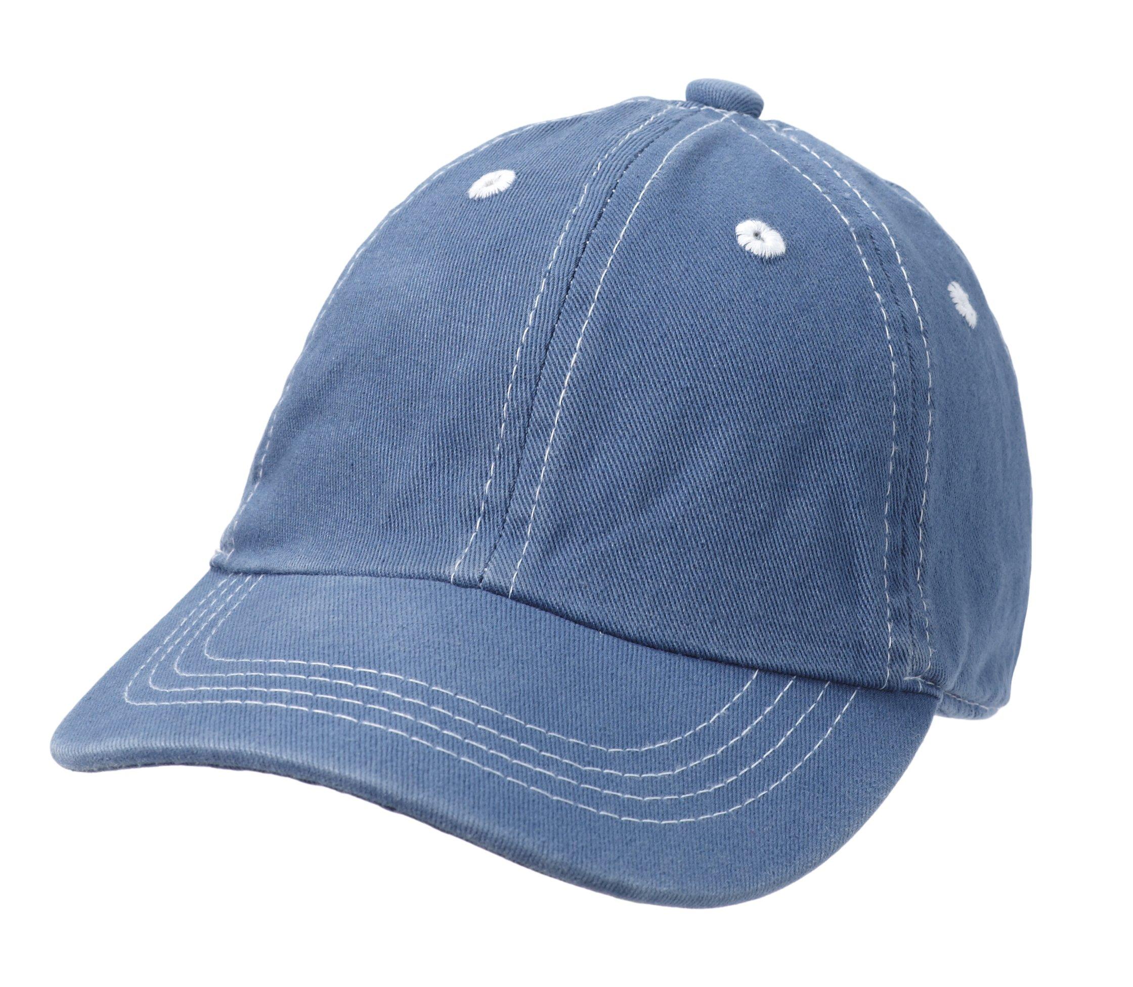 City Thread Baby Solid Baseball Hat Sun Protection SPF Beach Summer - Denim Blue - M(6-18M)