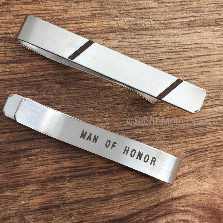 Man of Honor Tie Clip Man of Honor Tie Bar Man of Honor Gift For Man of Honor Tie Clip Engraved Tie Clip Gift For My Man of Honor Tie Clip