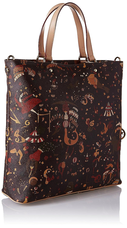 Piero Guidi dam hög handväska, 33 x 32 x 11 cm Brun (Marrone (Testa Di Moro))