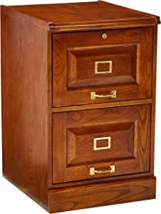 Palmetto 2-Drawer Oak File Cabinet Warm Honey
