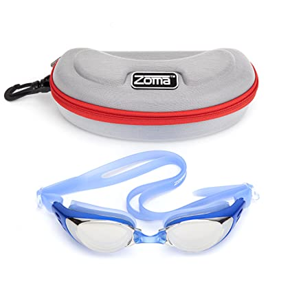 424a99a97a5 Zoma Swimming Goggles 2.0 with Anti Fog Swim Technology - 3 Piece  Adjustable Nose Bridge for