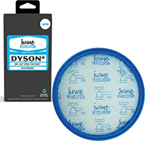 Home Revolution 4 Pre Filters, Fits All Dyson DC25 Upright Vacuum Cleaner Models and Parts 914790-01 & 919171-02