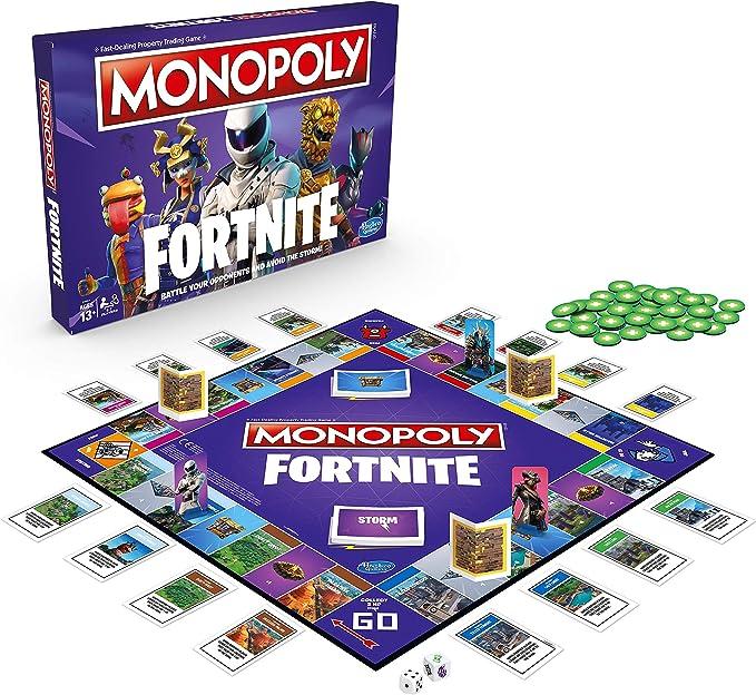 Monopoly Fortnite - Juego de mesa por 2 a 7 jugadores De 13 años en adelante [Edición Inglés]: Amazon.es: Juguetes y juegos