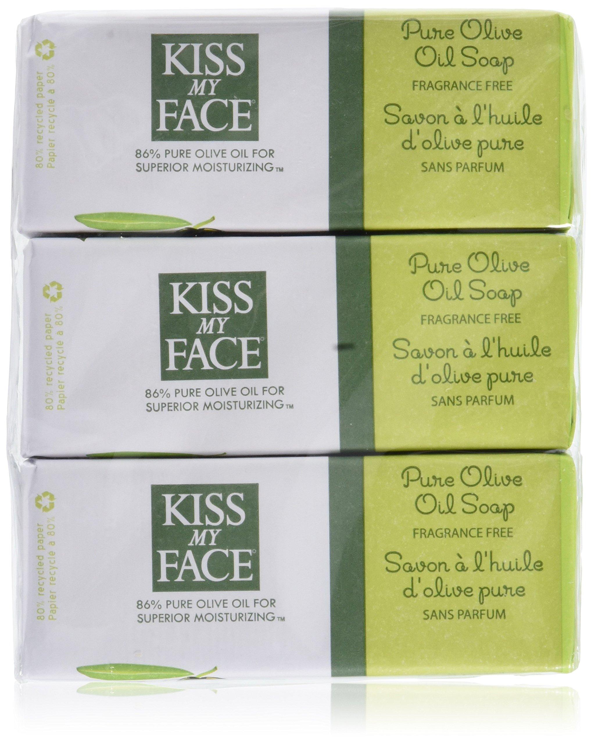 Pure Olive Oil Bar Soap Value Pack Fragrance Free - 3