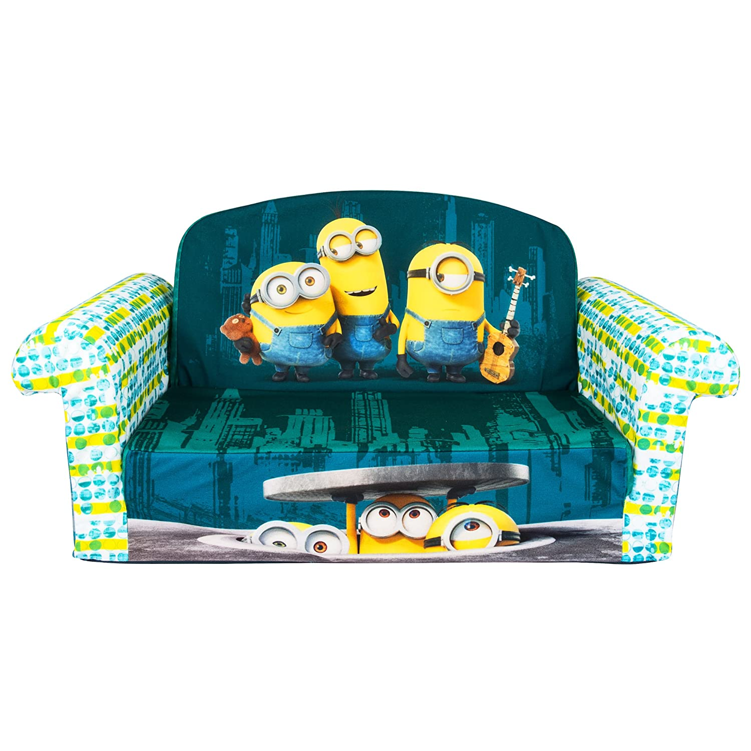 Marshmallow Furniture, Children's 2 in 1 Flip Open Foam Sofa, Despicable Me Minions, by Spin Master 6026495