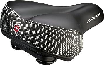 New Schwinn Comfortable Ergonomic Soft Wide Large No Pressure Bicycle Bike Seat