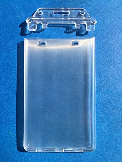 outlet store 7aba2 53085 Clear Vertical Permanent Locking Plastic Card Holder 1840-6045