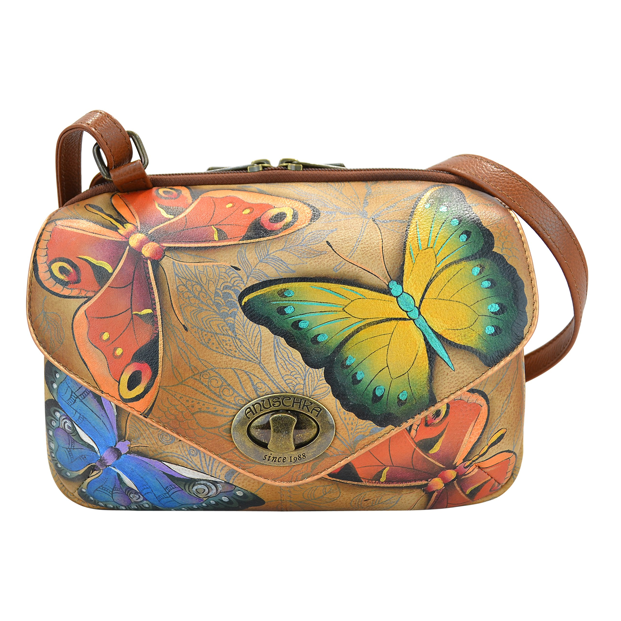 Anuschka Handpainted Painted Convertible Travel Organizer,Earth Song, Est-Earth Song