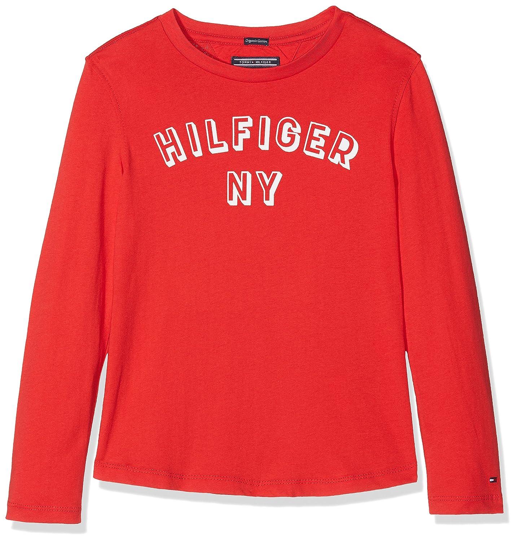 Tommy Hilfiger Essential Big Logo Tee L/S, T-Shirt Bambino KB0KB04081