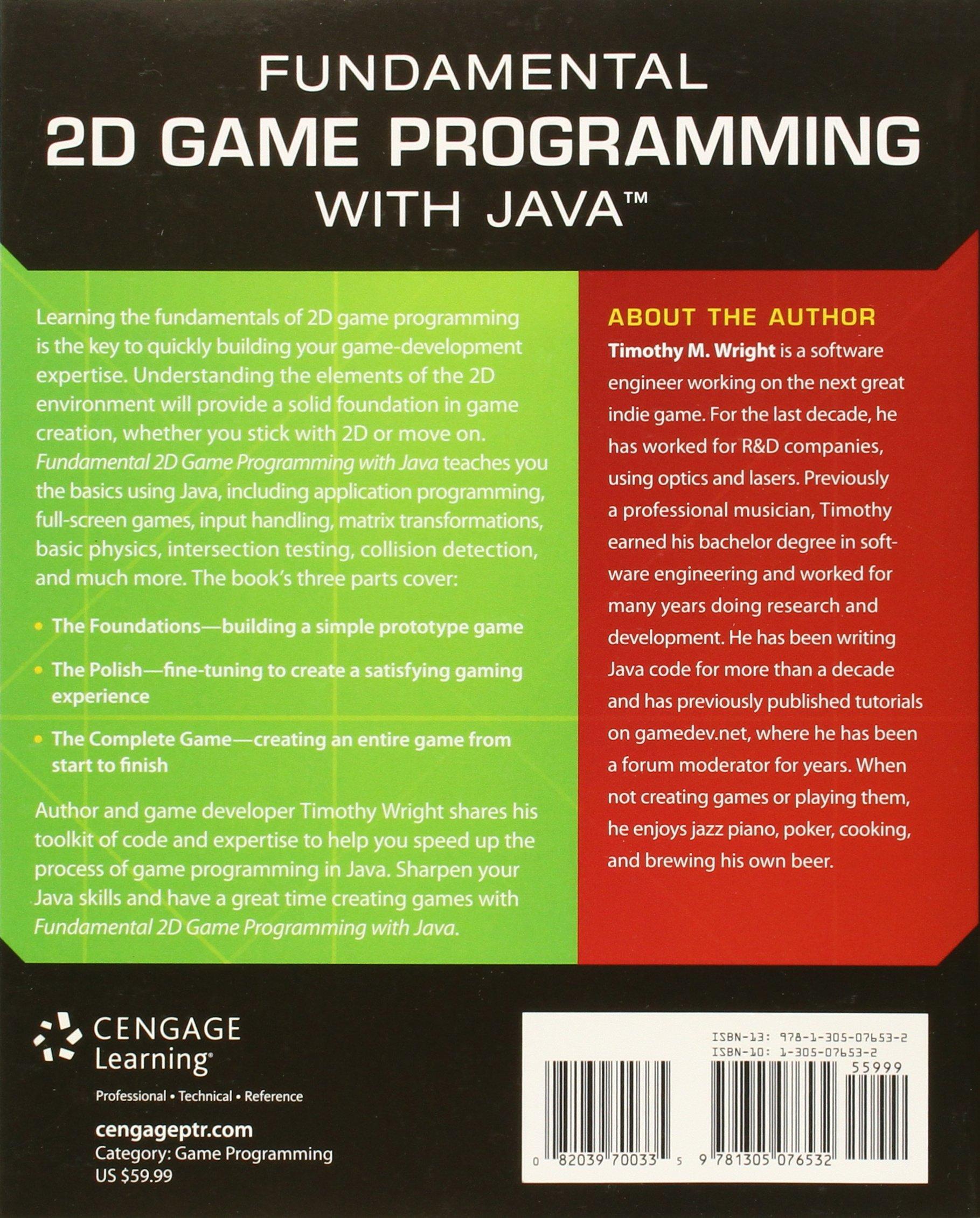 Fundamental 2d game programming with java amazon timothy fundamental 2d game programming with java amazon timothy wright 9781305076532 books baditri Images