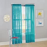 Deals on No. 918 Calypso Sheer Voile Rod Pocket Curtain Panel