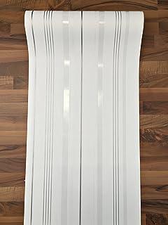 Tapete weiß silber gestreift  Vlies Tapete PS Aktion 13204-10 Gestreift Streifen weiß lila ...