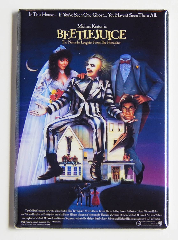 Beetlejuice Movie Poster Fridge Magnet