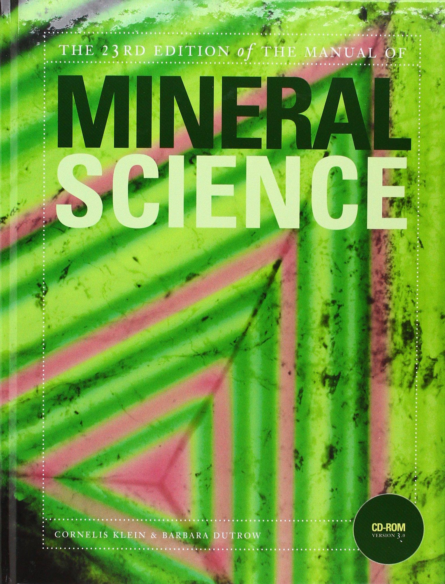 Manual of Mineral Science: Amazon.co.uk: Cornelis Klein: 9780470226018:  Books