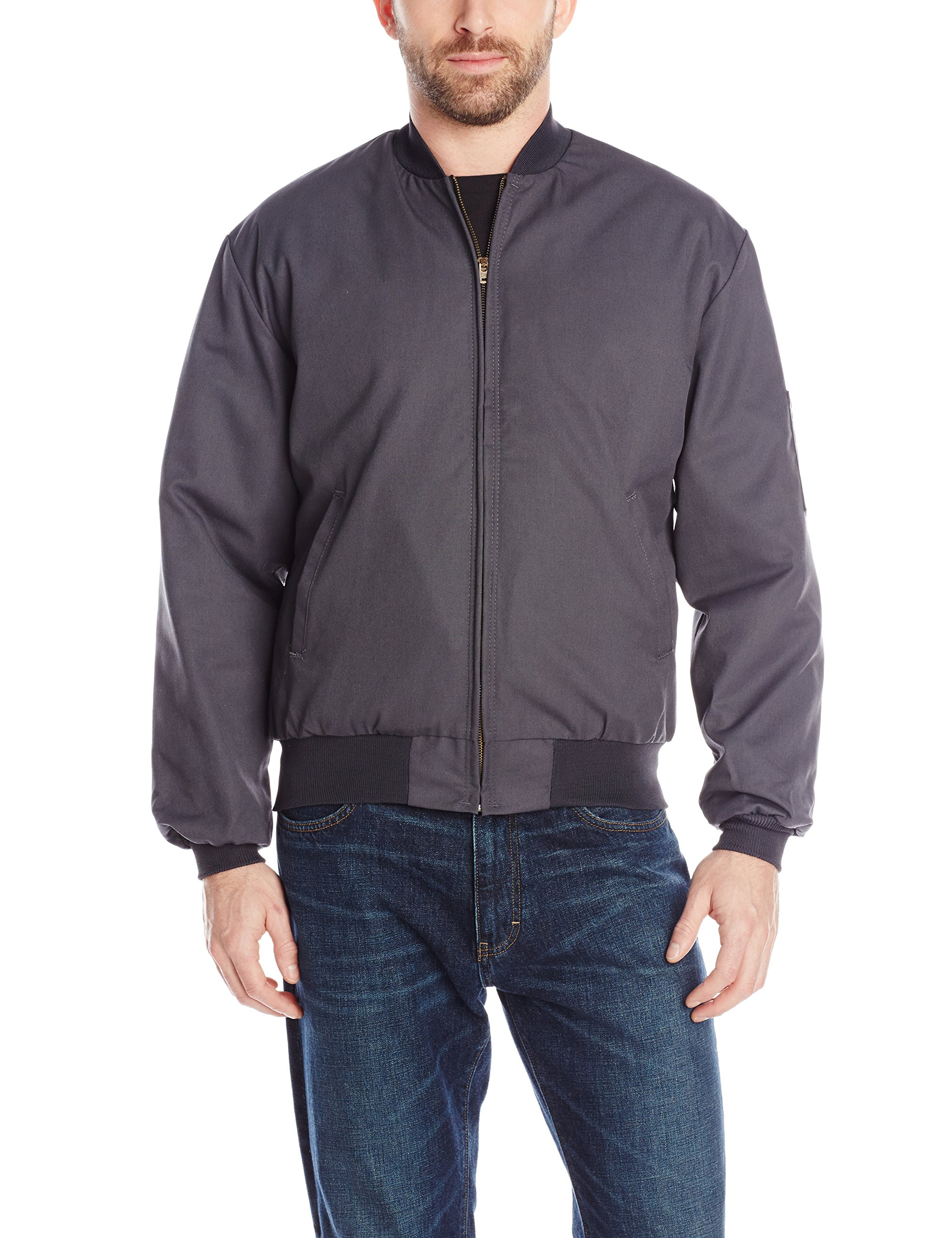 Red Kap Men's Solid Team Jacket, Charcoal, Medium by Red Kap