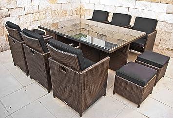 Amazon.de: NORDLAND Premium Gartenmöbel Set Polyrattan für 6+4
