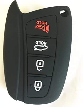 KAWIHEN Silicone Key Fob Cover Case Protector Smart Remote Control Shell Keyless Entry Case Holder Cover For 2015 2016 Hyundai Genesis 2013 2014 2015 Santa Fe 2014 2015 Equus 2015 Azera