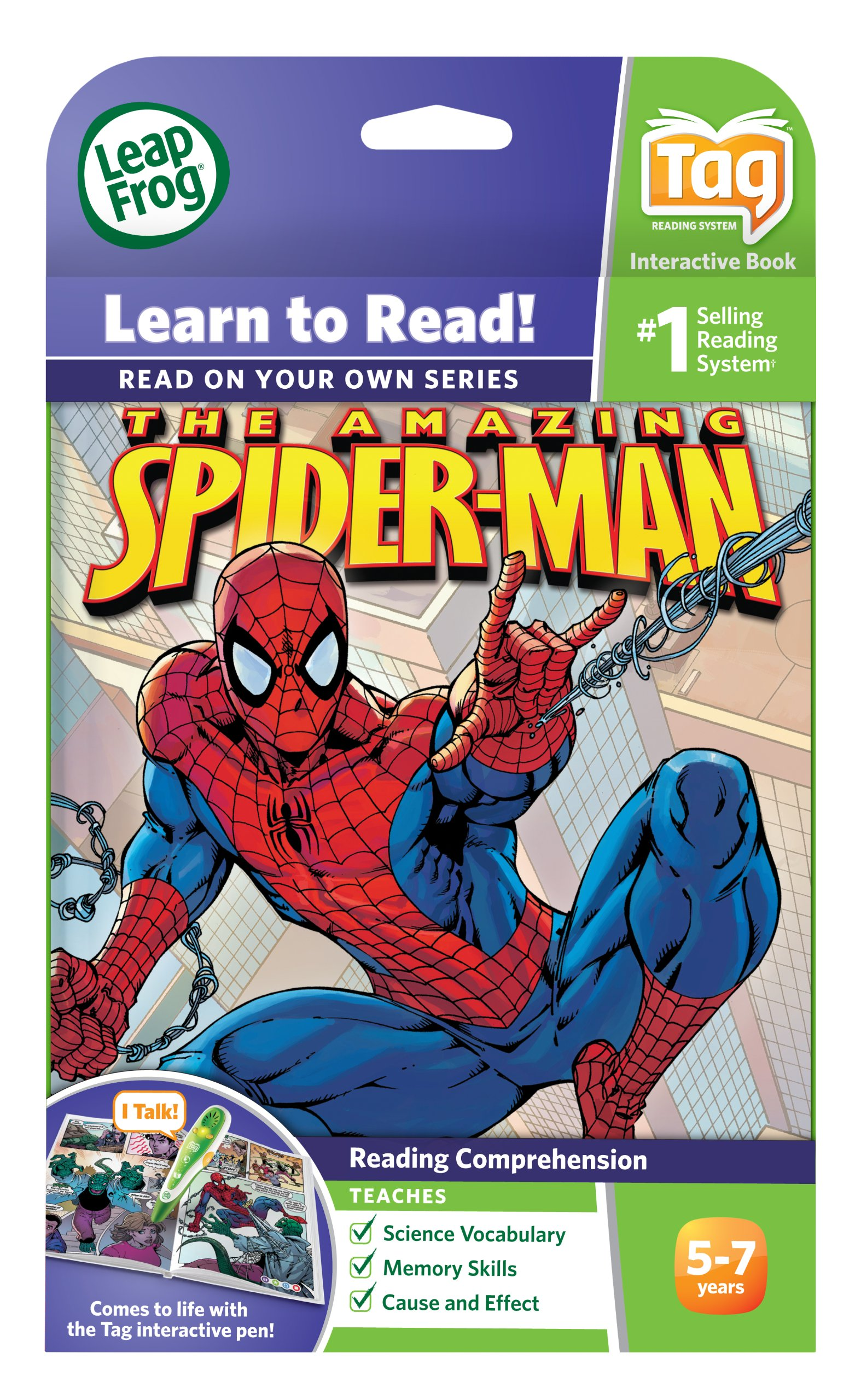 LeapFrog Tag Activity Storybook The Amazing Spider-Man: The Lizard's Tale by LeapFrog (Image #4)
