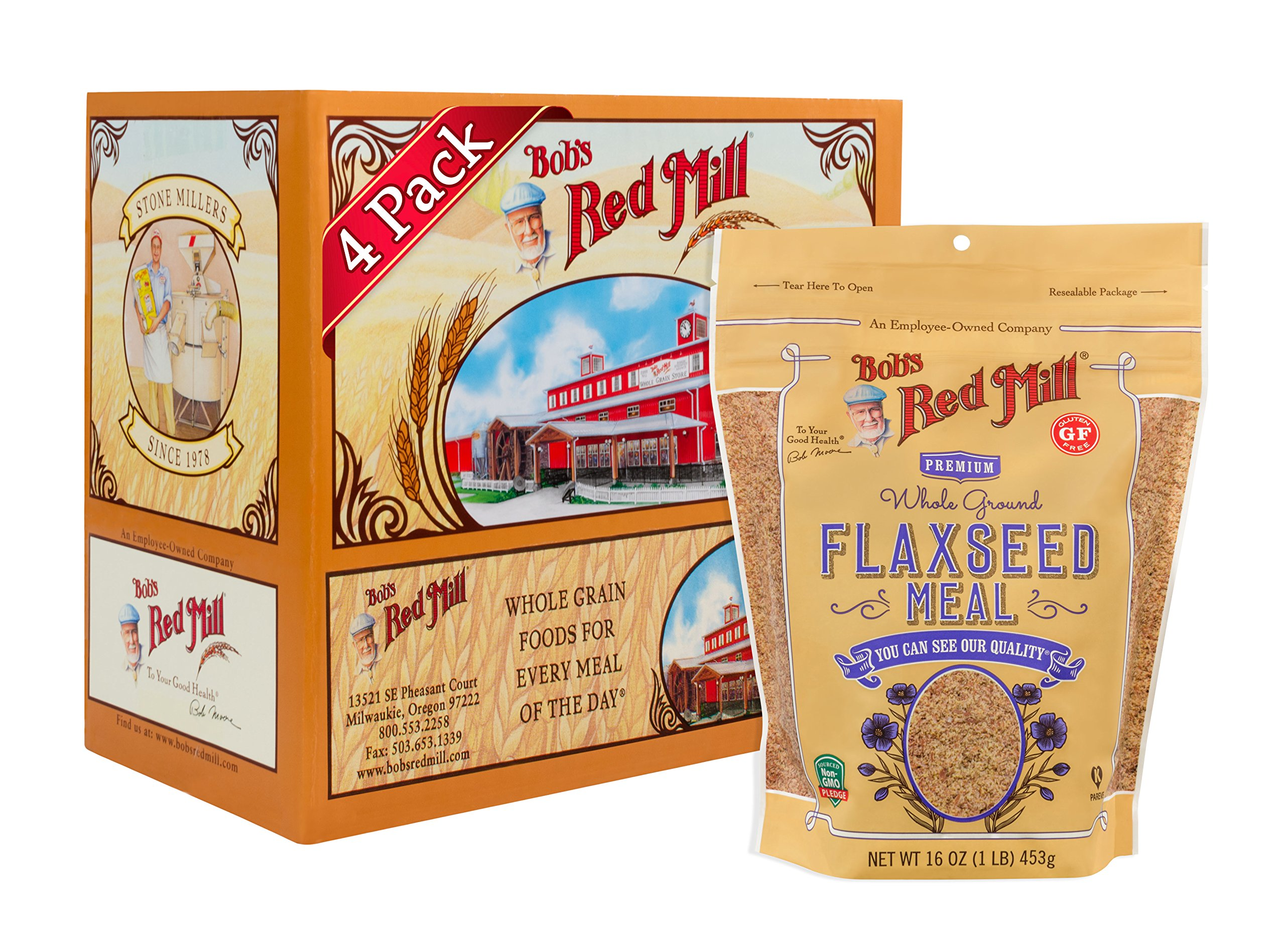 Bob's Red Mill Brown Flaxseed Meal, 16-ounce (Pack of 4)