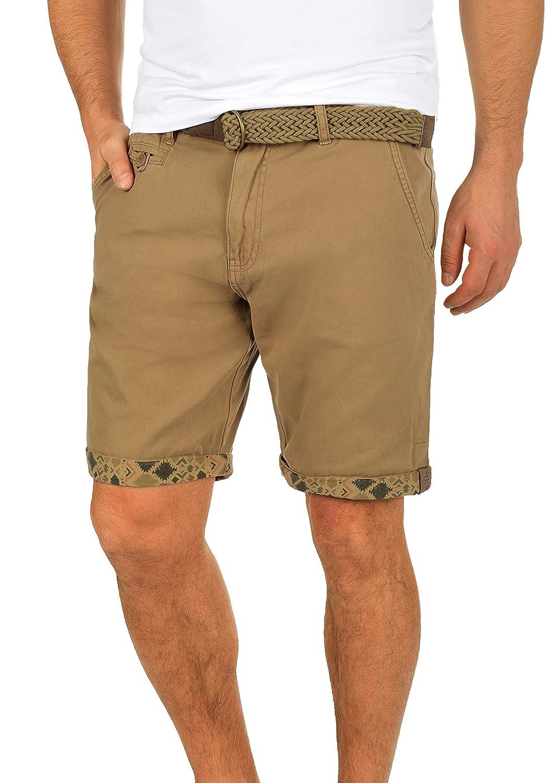 TALLA M. Indicode Inka Chino Pantalón Corto Bermuda Pantalones De Tela para Hombre con Cinturón de 100% Algodón Regular-Fit