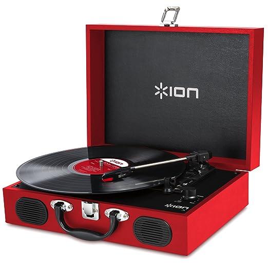 129 opinioni per ION Audio Vinyl Transport Giradischi Vintage, Portatile, a Forma di Valigetta,