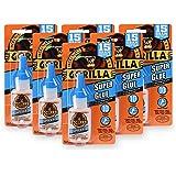 Gorilla Super Glue 15 Gram, Clear, (Pack of 6)