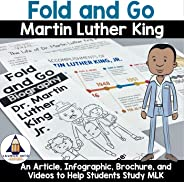 Biographies for Kids - Martin Luther King Jr. Fold and Go Activity - (Research, Social Studies, Civil Rights,