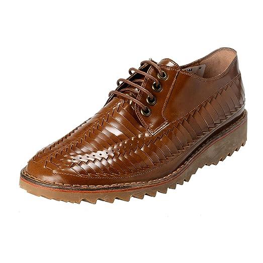 Marc Jacobs Men's Brown Textured Leather Casual Oxfords Shoes US 10 IT 9 EU 43 B072BMNBCB