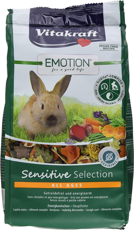 Vita Fuerza Solos Forro para niño Conejos Enanos, luzerne, zanahoria y Aciano, trivita de Complex, Emotion Beauty Selection Junior, 5 x 600g