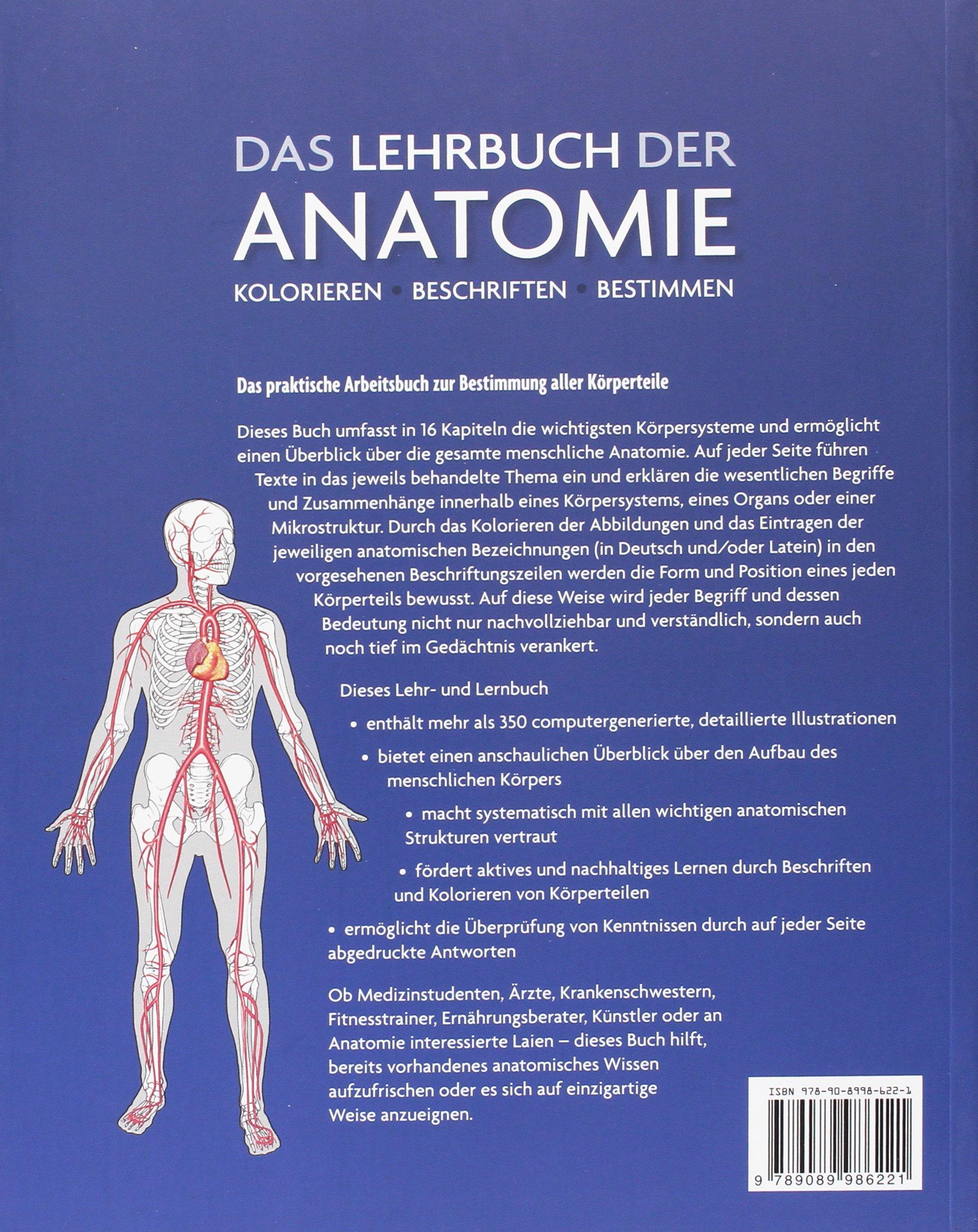 Das Lehrbuch der Anatomie: Kolorieren Beschriften Bestimmen: Amazon ...